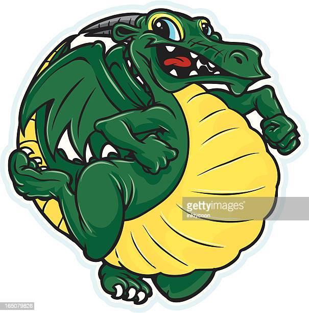 cute dragon - skipping stock illustrations, clip art, cartoons, & icons