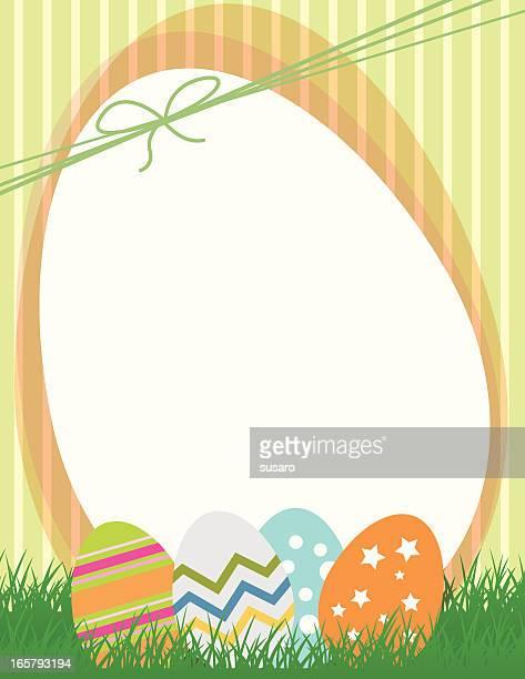 cute easter eggs illustration - easter egg hunt stock illustrations, clip art, cartoons, & icons