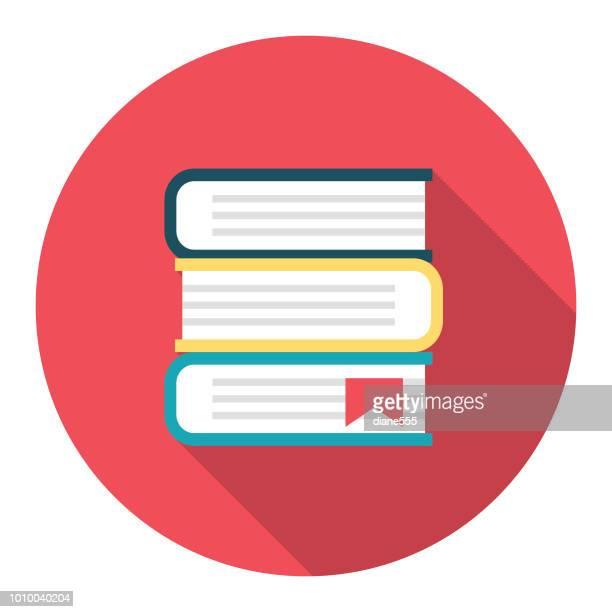 illustrations, cliparts, dessins animés et icônes de icône de l'éducation--manuels - empilé