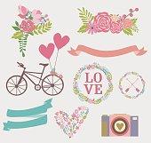 Cute elements set