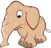 Cute elephant calf  illustration Cartoon
