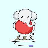 Cute elephant character.
