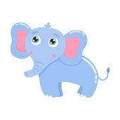 Cute elephant vector illustration.