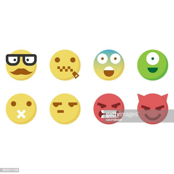 cute emoticons 5 - the grass is always greener stock illustrations, clip art, cartoons, & icons