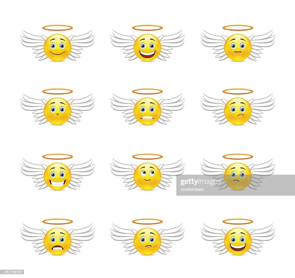 Cute emoticons angels