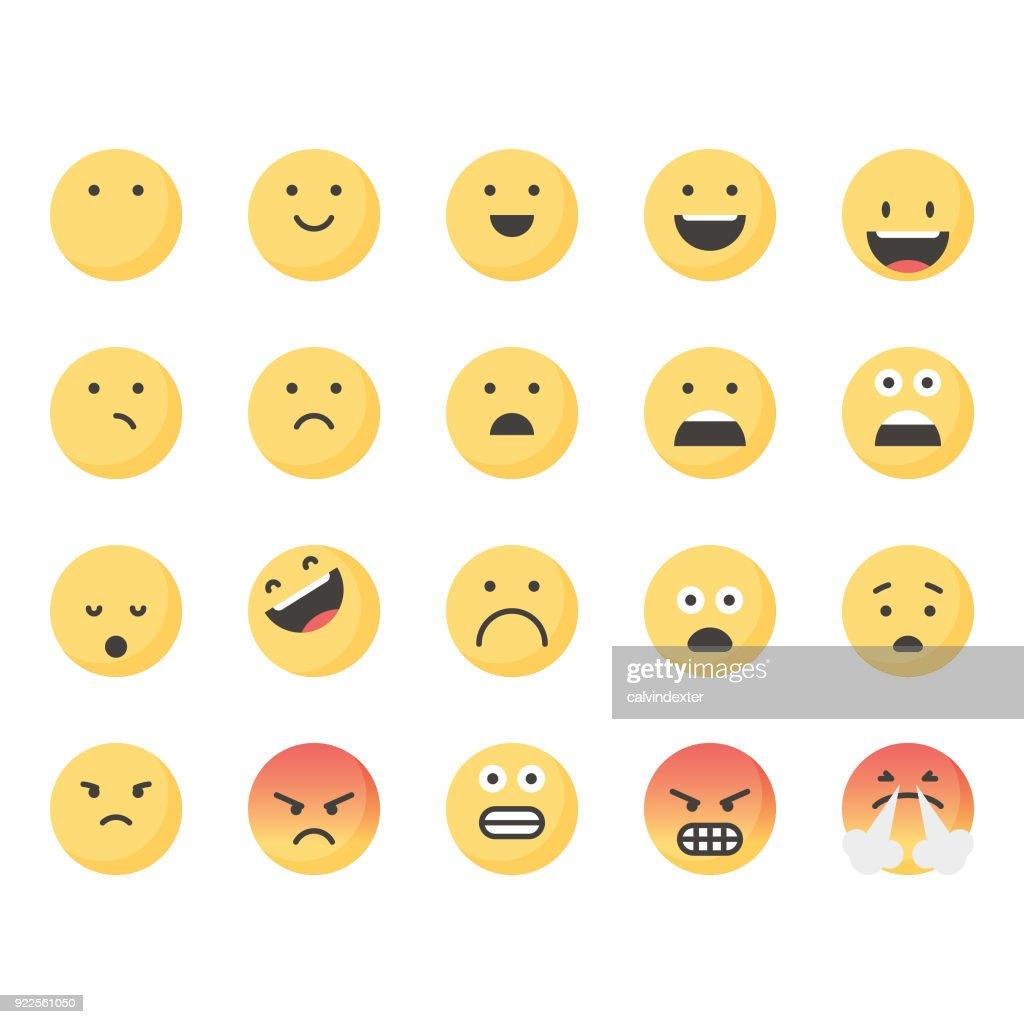 Cute emoticons set 1 : stock vector