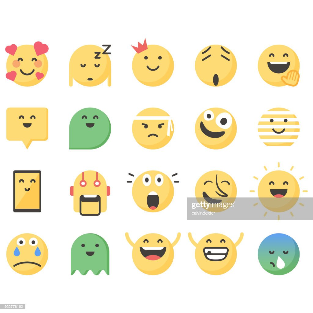 Süße Emoticons set 13 : Stock-Illustration