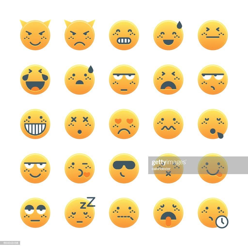 Cute emoticons set 2