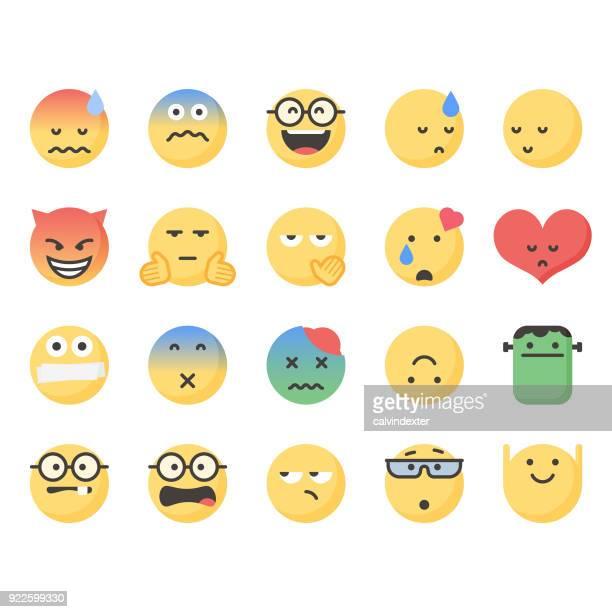 ilustrações de stock, clip art, desenhos animados e ícones de cute emoticons set 7 - atitude