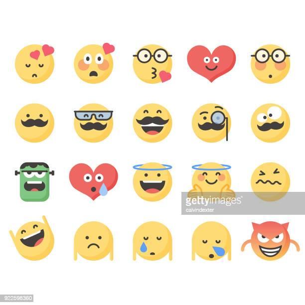 ilustraciones, imágenes clip art, dibujos animados e iconos de stock de emoticonos lindos set 8 - bigote