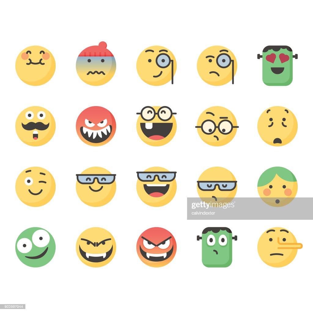 Cute emoticons set 9