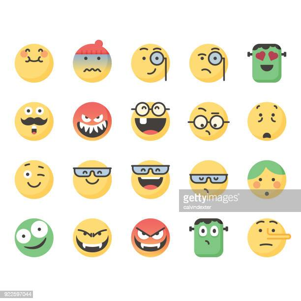Cute emoticons set 9