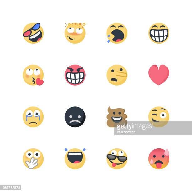 ilustrações, clipart, desenhos animados e ícones de conjunto de emoticons bonito - harmonia