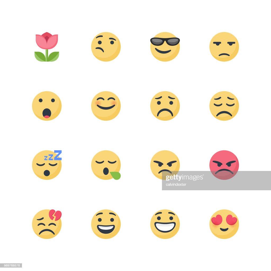 Cute emoticons set : stock illustration