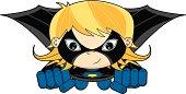 Cute Evil Super Girl Flying