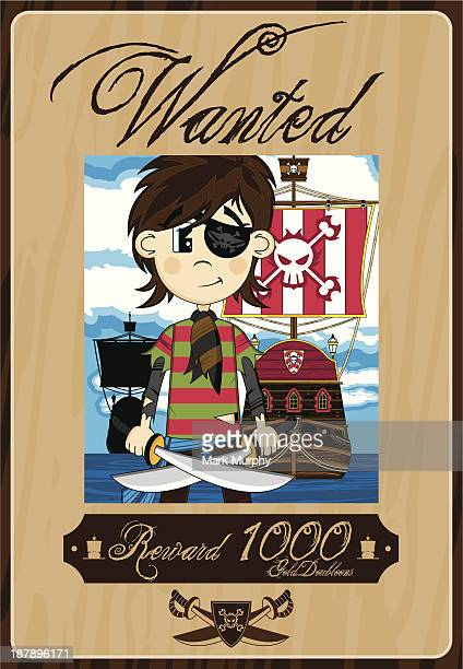 Cute Eyepatch Pirate Wanted Poster