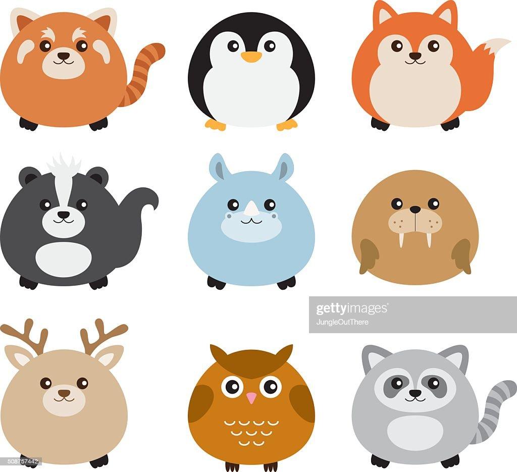 Cute Fat Animal Set