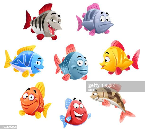 cute fish - cartoon stock illustrations