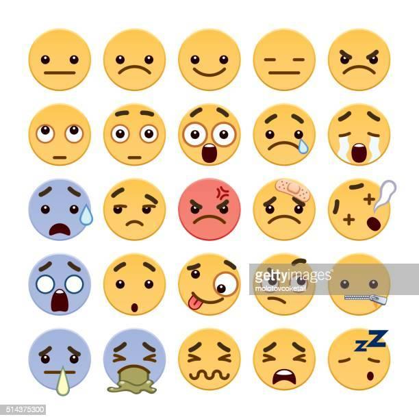 cute flat emoji