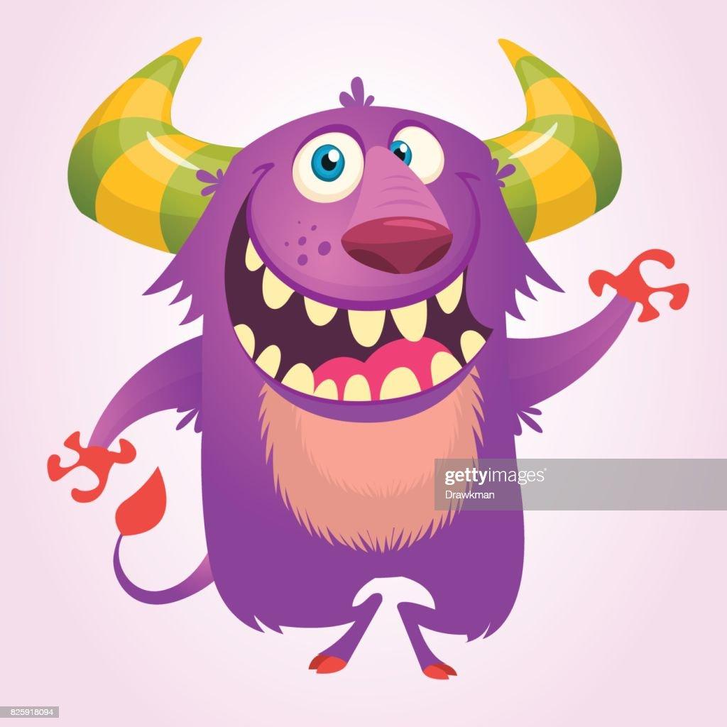 Süße Flauschige Blaue Monster Troll Oder Goblin ...
