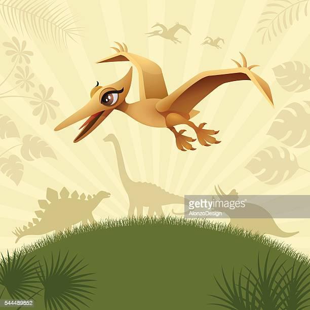Cute Flying Dinosaur