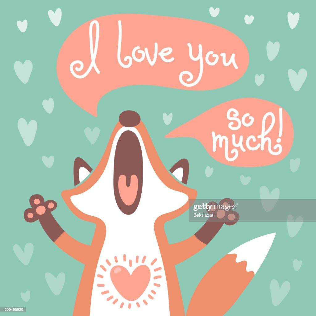 Cute fox confesses his love.