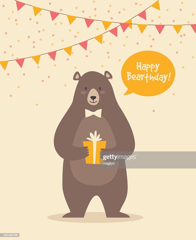 Cute Funny Birthday Bear