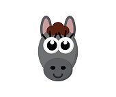 cute funny donkey illustration