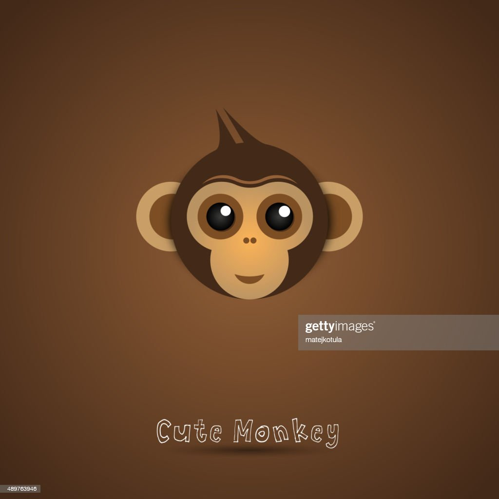 Cute funny Monkey Face illustration