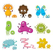 Cute Germ Characters Collection Set