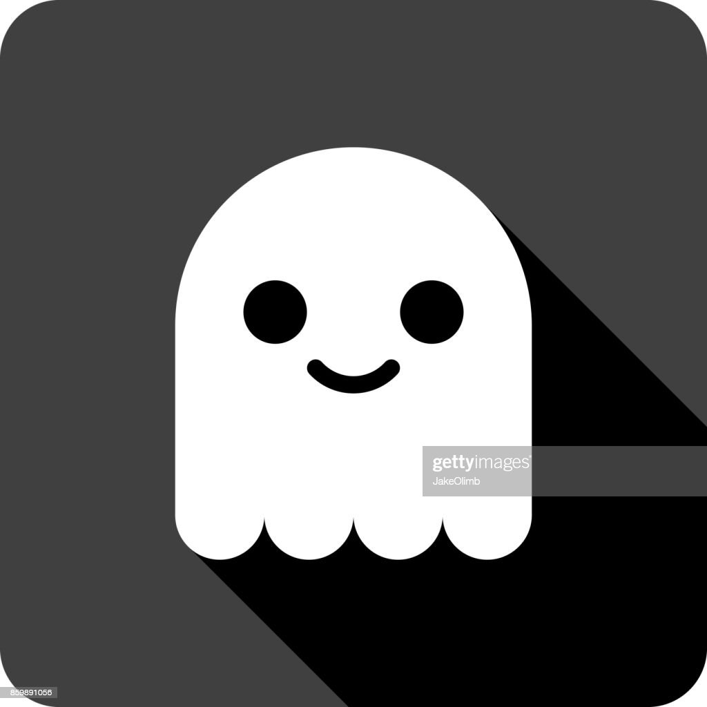 Cute Ghost Icon Silhouette High-Res Vector Graphic - Getty ...