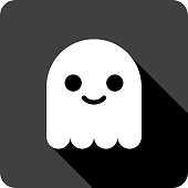 Cute Ghost Icon Silhouette