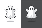 Cute ghost icon.