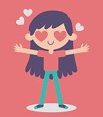 Cute Girl Crazy in Love