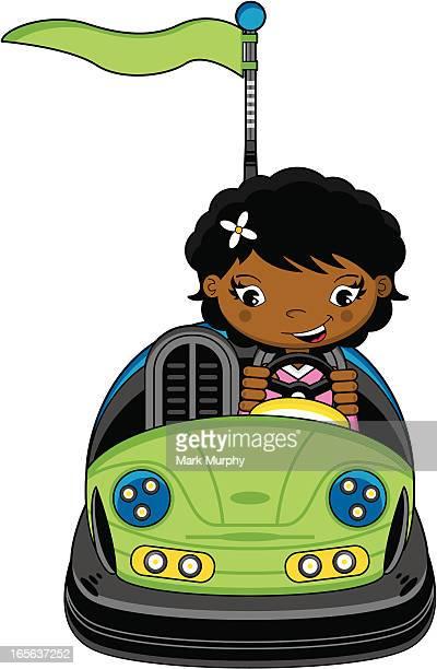 かわいい女の子に Dodgem Bumper Car