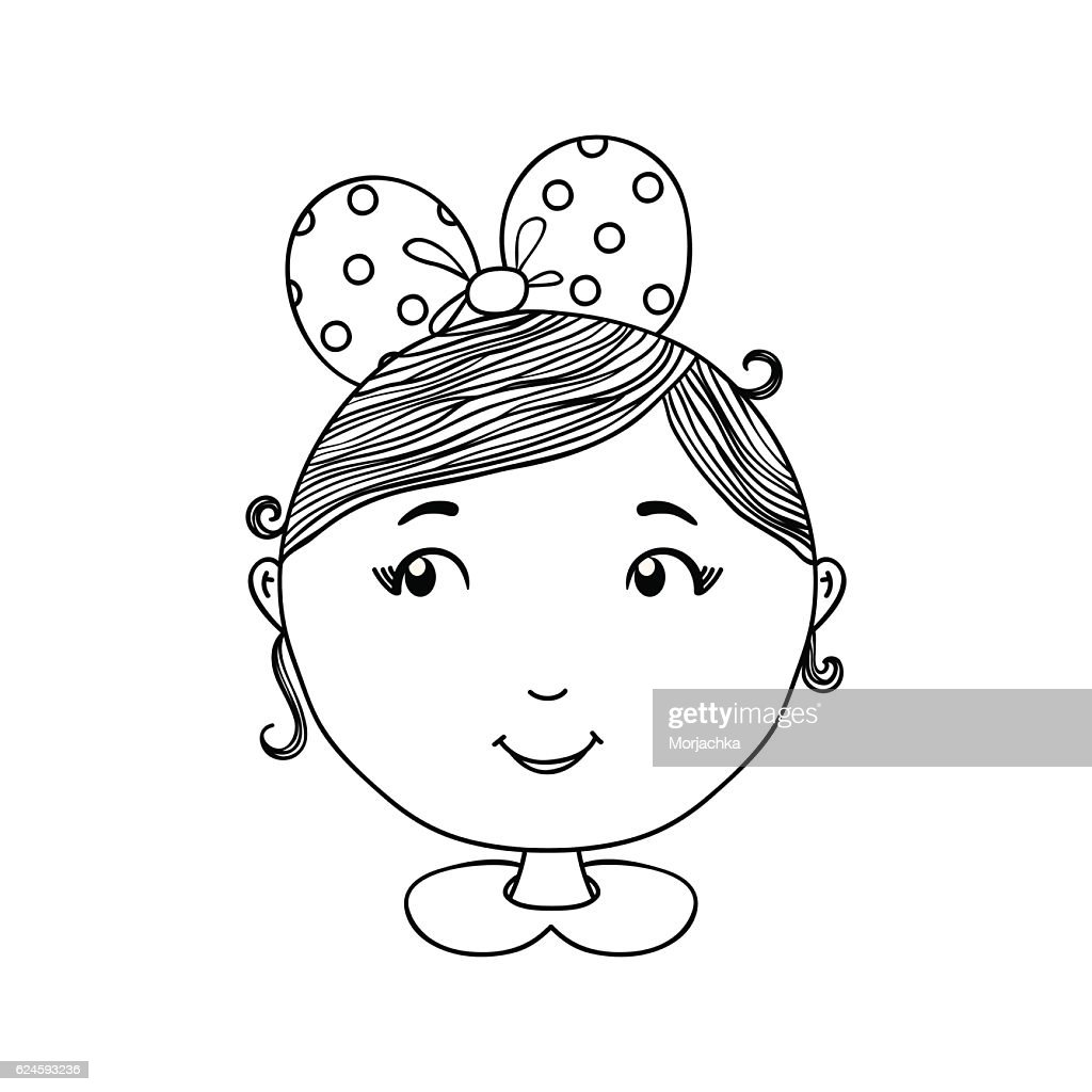 Cute girl vector background. Hand drawn illustration can be use
