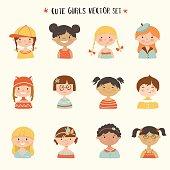 Cute girls smiling.