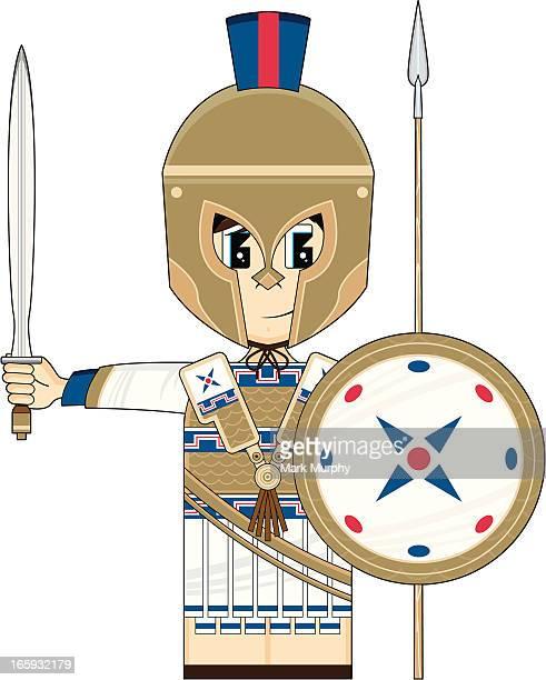 Cute Greek Hoplite Soldier