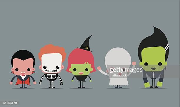 cute halloween characters - vampire stock illustrations
