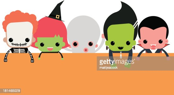 Cute Halloween Characters Vector Art | Getty Images