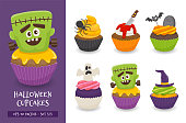 Cute halloween cupcake collection