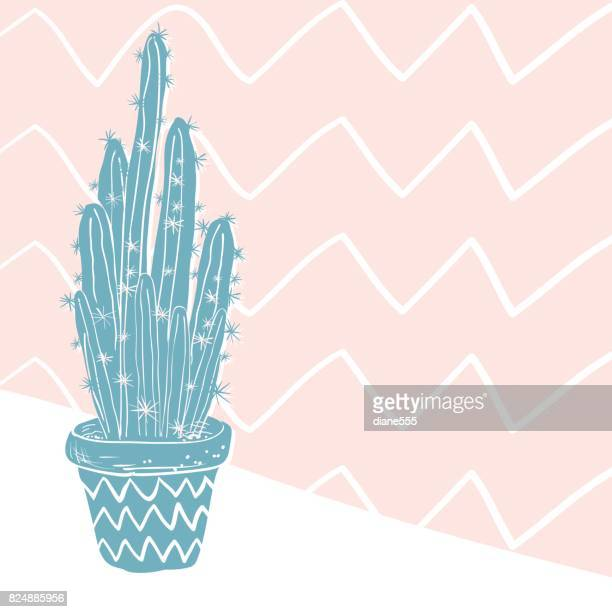 Cute Hand Drawn Cactus Background