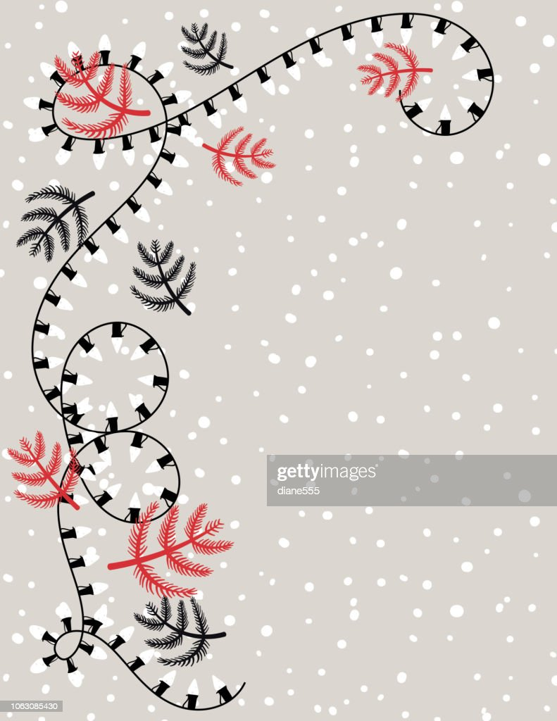 Cute Hand Drawn Christmas Lights Background High Res Vector