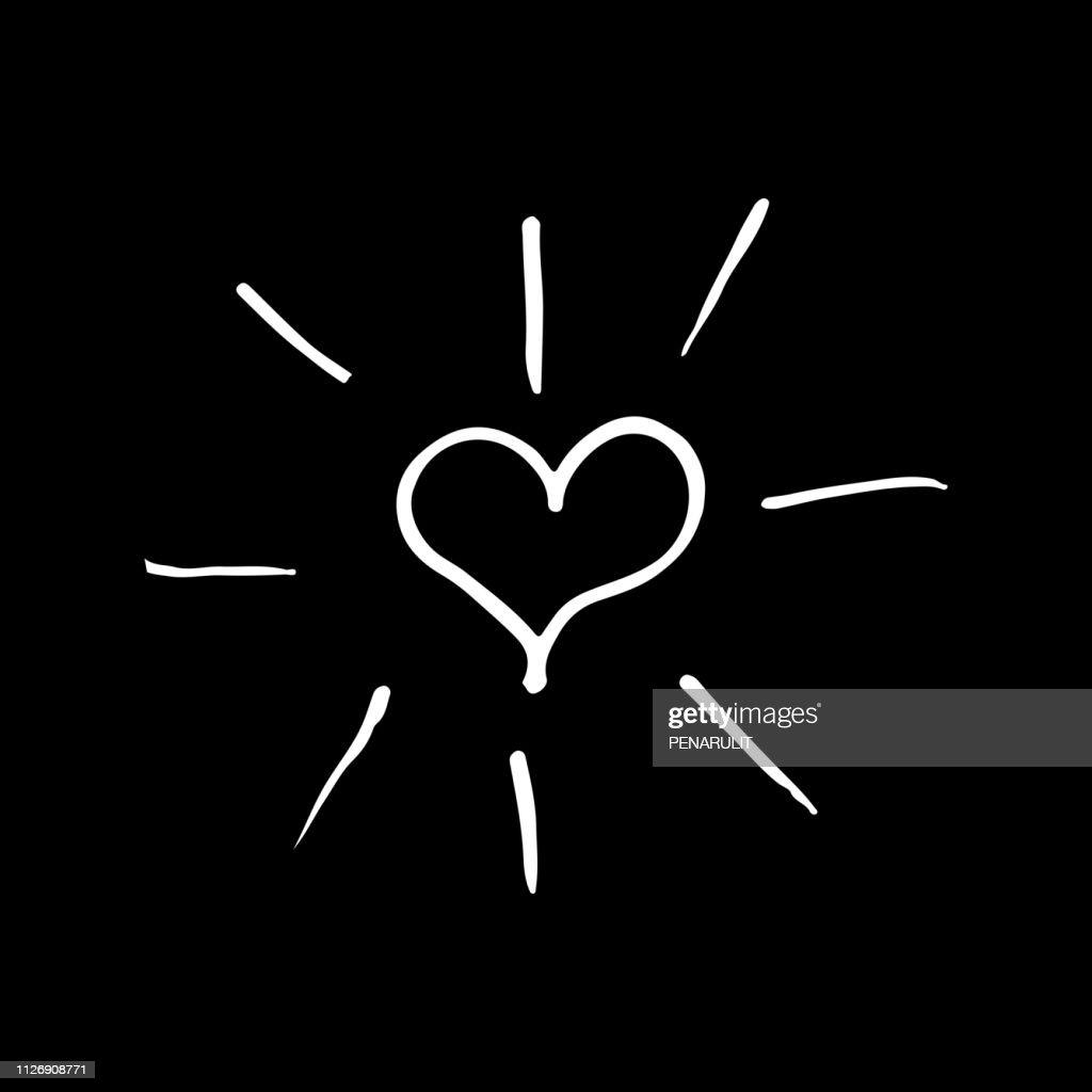 Cute Hand Drawn Heart Vector Illustration