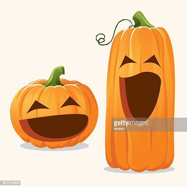 Cute Happy Pumpkins