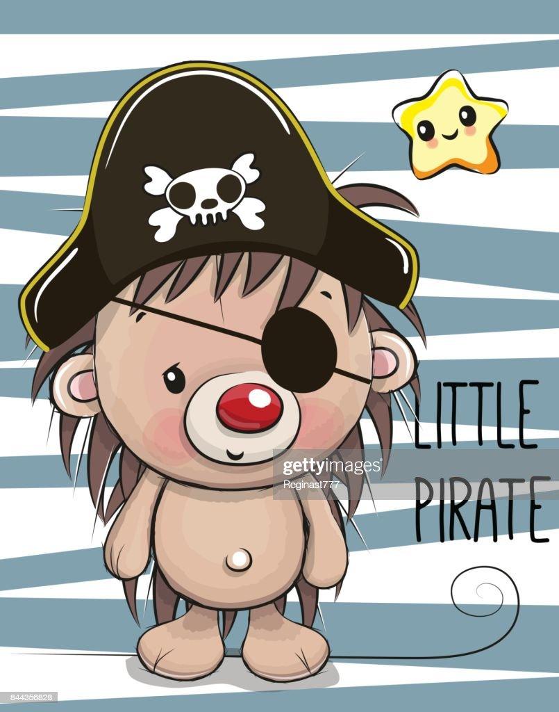Cute Hedgehog in a pirate hat