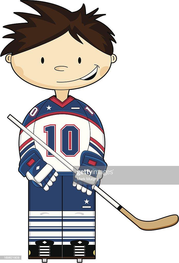 Cute Hockey Boy