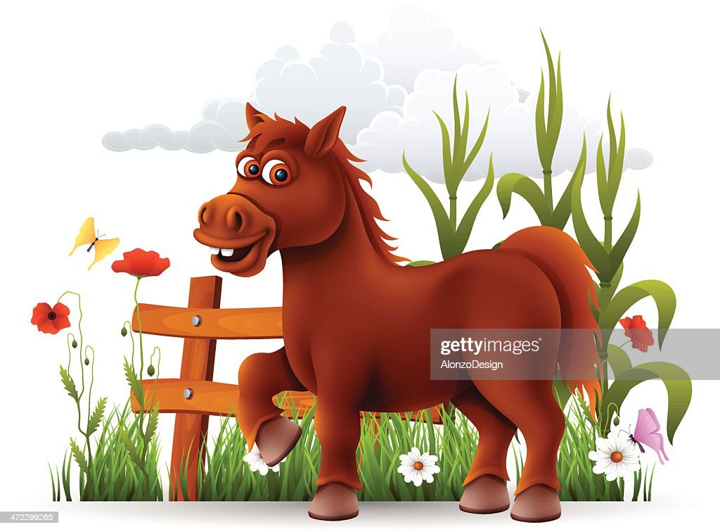 Cute Horse High Res Vector Graphic Getty Images