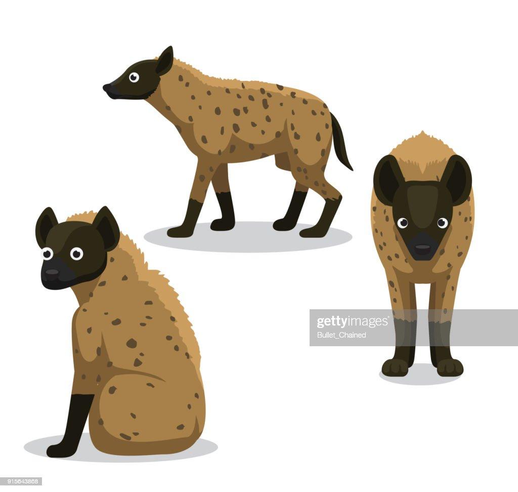 Cute Hyena Cartoon Vector Illustration