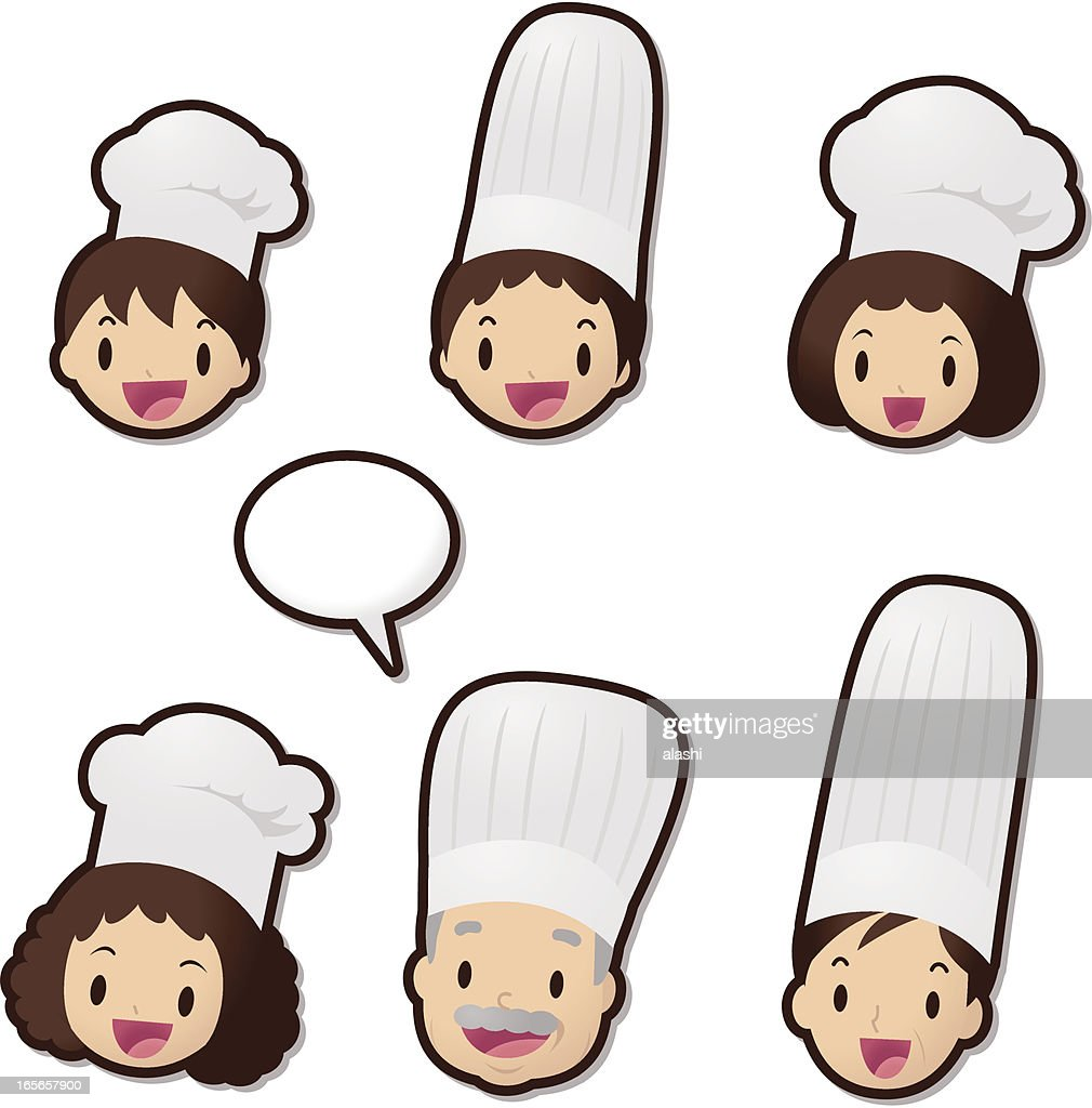 Cute Icon Set ( Emoticons ): Chef family (Food Service)